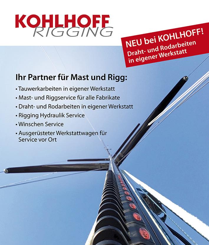 KOHLHOFF - Rigging - Mast und Riggservice für alle Fabrikate